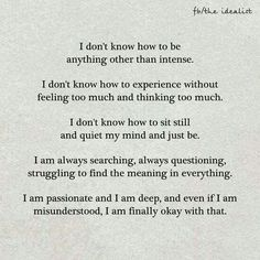Except last part totally me. Working to be ok with last part.                                                                                                                                                                                 More