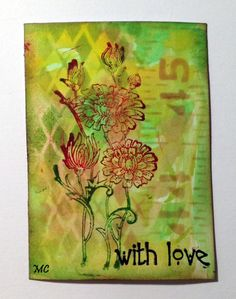 Chocolate Baroque - Floral Notes Rubber stamp sheet A5