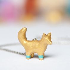Le Fox Chroma Totem Necklace by le animalé Made to by leanimale, via Etsy.