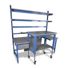 Scheduler Modular Workbench #industrialfurniture #industrial #desks #industrialworkbench #workbenchwithstorage