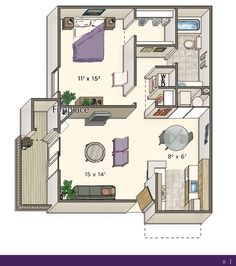 700 Square Feet Apartment image result for 1 bedroom 700 sq ft house plans | apartment