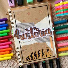 Journal Fonts, Bullet Journal School, Bullet Journal Notebook, Bullet Journal Ideas Pages, Bullet Journal Inspiration, Notebook Art, Hand Lettering Alphabet, School Notebooks, Pretty Notes