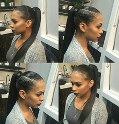 2 Top Sleek ponytail Hairstyles Which Will Change Your Look High Ponytail Hairstyles, Dope Hairstyles, Ponytail Styles, Long Ponytails, Straight Ponytail, Sleek Ponytail, Relaxed Hair, Natural Hair Styles, Long Hair Styles