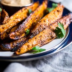 Maple Tahini Grilled Sweet Potatoes - A simple Vegan & Paleo friendly side with a ton of flavor! Gluten/grain/sugar/dairy free!
