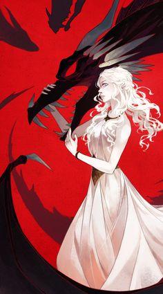 Daenerys Targaryen: Amazing Cartoon Illustration by zetallis Queen Of Dragons, Mother Of Dragons, Game Of Throne Daenerys, Game Of Thrones Art, Game Of Thrones Cartoon, Khaleesi, Daenerys Targaryen Art, Throne Of Glass, Valar Morghulis
