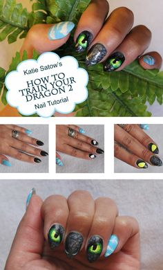 How to Train Your Dragon 2 Nails by Katie Satow!