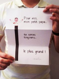 """Une carte """"Le plus grand des papas"""" - tracy. Cadeau Parents, Art For Kids, Crafts For Kids, Mather Day, Mother's Day Activities, Easy Arts And Crafts, Fathers Day Crafts, Mothers Day Cards, Mother And Father"""