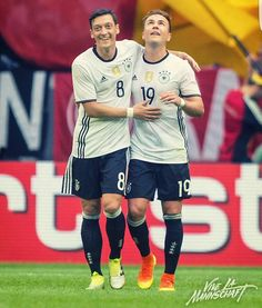 Germany (@DFB_Team_EN) | Twitter @MesutOzil1088  9h9 hours ago Successful final rehearsal for our 1st #Euro2016 match vs. Ukraine!⚽⚽✔ Now a short break before heading off to #FRA  Die Mannschaft and Mario Götze  4.06.2016