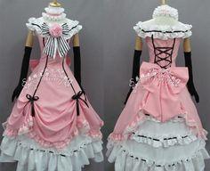 Black Butler Ciel Phantomhive Female Cosplay Costume Free Custom Made $88.00