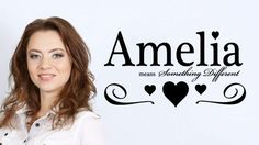 Share this cool... Amelia-Girls Name Wall Decal
