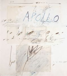 Cy Twombly, Apollo and the Artist, 1975