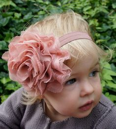 SALE Baby Headband - Brown Flower Headband- Over the top Headband - Brown Children's Headband - Fall Headband. $11.00, via Etsy.