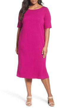 Eileen Fisher Jersey Shift Dress (Plus Size) at Nordstrom.com. Bring a welcome splash of color back to your wardrobe with this elegantly simple and endlessly comfortable dress of silky stretch jersey.
