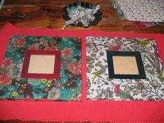 decoupaged frames