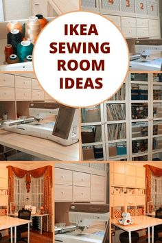 Ikea Sewing Rooms, Sewing Room Furniture, Sewing Room Decor, My Sewing Room, Sewing Diy, Ikea Furniture, Sewing Hacks, Ikea Craft Room, Craft Room Storage