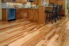 Wide Plank Reclaimed Hickory Flooring #hickory #woodfloors http ...