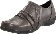 Portlandia Women's Travel Slip-on,Grey Burnished,36 EU/5.5-6 M US. Removable insole. Flexible sole. Non-skid outsole.
