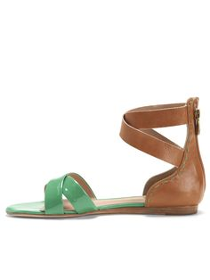 Fabia color blocked sandal in seafoam