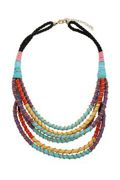 Shop new jewellery at Topshop. Everything from necklaces, rings, earrings and bracelets come with free click & collect to your nearest Topshop store. Necklace Price, Cute Necklace, Tribal Necklace, Women Jewelry, Fashion Jewelry, Textile Jewelry, Jewelry Trends, Jewelry Ideas, Bag Accessories