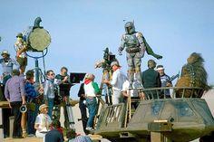 """Boba Fett/Jeremy Bulloch, on set of """"Return of the Jedi,"""" (1983)"""