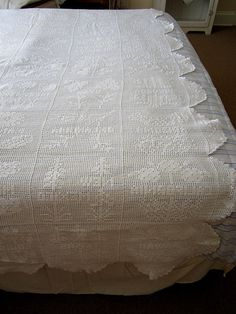 SOLD within 15 Minutes of Listing on ETSY.com...Vintage White Crochet Large Tablecloth  by JewelsOfHighElegance, $22.50