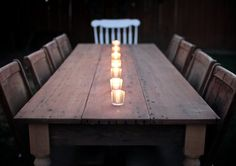 Rustic Reclaimed Wood Traditional Farmhouse Dining door MonkandHoney, $900.00