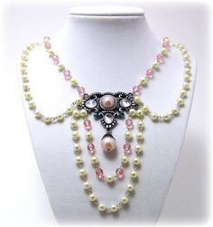 Victorian Necklace - Fantasy Jewelry - Pearl  Necklace, Costume Jewelry, Medieval Jewelry, SCA. $50.00, via Etsy.