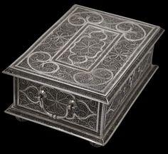Unusually Large, Silver Filigree Betel Box - Michael Backman Ltd Hermitage Amsterdam, Double Headed Eagle, Indonesian Art, Dutch East Indies, Dutch Colonial, Antique Boxes, Silver Filigree, Asian Art, Decorative Boxes