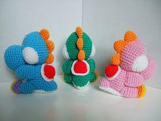 Yoshi, dinosaur, Super Mario Brothers, amigurumi