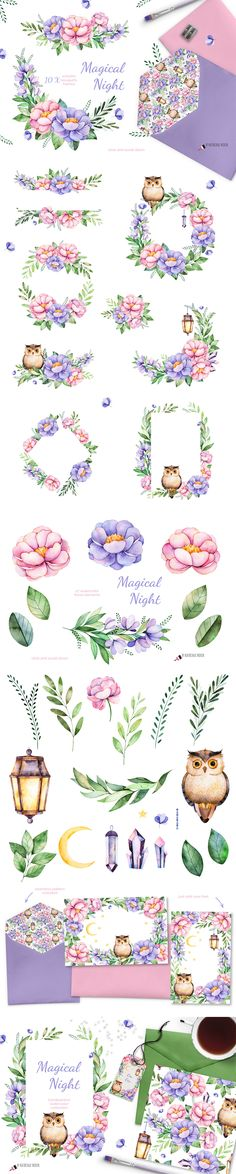Magical Night Watercolor Collection