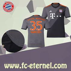 fc-eternel:Maillot Bayern Munich SANCHES 35 Exterieur 2016/2017 Flocage Maillot Bayern Munich, Lewandowski, Football, Sports, Flocking, Baby Born, Woman, Soccer, Hs Sports
