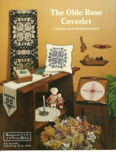 Olde Rose Coverlet Cross Stitch Pattern Leaflet reproduction of an 1800's design #AmericanCrossStitch