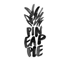 This is a great execution of using hand lettering to illustrate objects. I love this pineapple brush lettering. Design Logo, Type Design, Types Of Lettering, Brush Lettering, Typography Inspiration, Graphic Design Inspiration, Logo Typo, Branding, Illustration