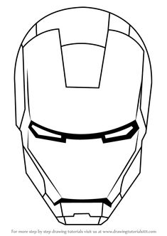 Download and Print iron man coloring pages mask | Drawing ...