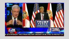 Hannity 8/19/16 - Sean Hannity Gingrich Donald Trump's Agenda