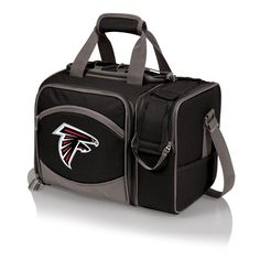 Atlanta Falcons Malibu Picnic Tote comes with place settings for two and is insulated so can be used as a cooler tote, great for tailgating, the beach and romantic get aways.