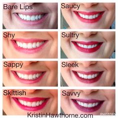 Here are all the Younique Lip Stains.