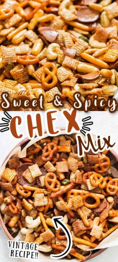 Chex Mix Recipe Oven, Sweet And Salty Chex Mix Recipe, Sweet And Spicy, Healthy Chex Mix, Healthy Food, Healthy Recipes, Trash Mix Recipe, Snack Mix Recipes, Snack Mixes