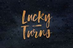 Best Lucky Turns CreativeWork247 - Fonts, Graphics, Themes, Templates...