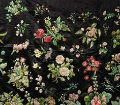 Spectacular embroidery ~ Mrs. Delaney's Dress