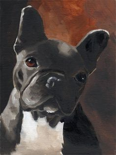 French bulldog art print from original oil painting by rubenacker, $12.99