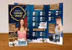Folder promocional para a Index Cursos Profissionalizantes.