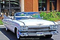 Cadillac Convertible - cherry red with white interior - love the fins on this car! Retro Cars, Vintage Cars, Antique Cars, Fancy Cars, Old American Cars, American Classic Cars, 1959 Cadillac, 1957 Chevrolet, Chevrolet Trucks