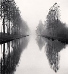 Michael Kenna French Canal Loire et Cher France 1993