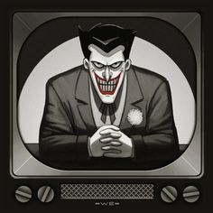 Mondo Reveals Batman: The Animated Series Album Covers! The Joker by Mike Mitchell Joker Batman, Joker Y Harley Quinn, Joker Art, Batman Arkham, Batman Art, Superman, Batman Robin, Gotham Joker, Joker Animated