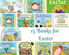 15 Books for Easter - Non-Candy Easter ideas for preschoolers