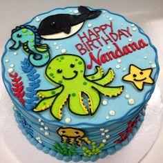 Ocean Life Buttercream Cake