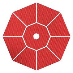 Coral Coast Key Largo 11-ft. Spun-Poly Wood Market Umbrella Red - 0832TD-16 RED
