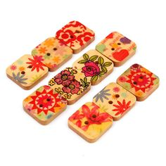 100pcs Wooden Multi Pattern Sewing Buttons DIY Craft Purse Baby Clothes Decoration Sewing Button
