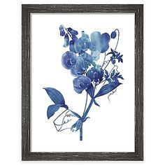 In shades of blue and with exquisite detail, the Indigo Flora Print Wall Art from PTM Images updates the ancient art of botanical flower illustrations. Each print is completed with a distressed finish wood frame.